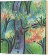 Trunk Road Wood Print