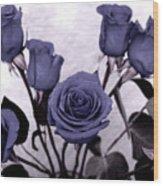 Trunk Roses Wood Print