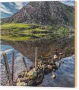 Tryfan Reflections Wood Print