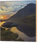 Tryfan Surnise Wood Print