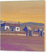 Tsagan-kure, Inner Mongolia Wood Print