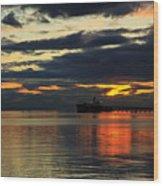 Tsawassen Sunset Wood Print