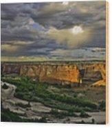 Tsegi Overlook Sunrise Wood Print