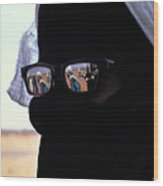 Tuareg With Sunglasses Wood Print