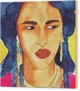 Tuareg Woman Wood Print