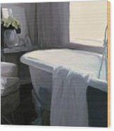 Tub In Grey Wood Print