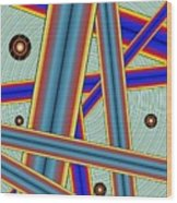 Tubes Two Wood Print