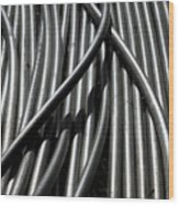 Tubular Abstract Art Number 13 Wood Print