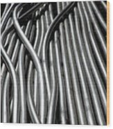 Tubular Abstract Art Number 15 Wood Print