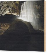 Tuckaleechee Cavern Waterfall Wood Print