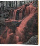 Tucker Brook Falls Ir 1 Wood Print