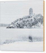 Tucker's Tower In Winter Wood Print
