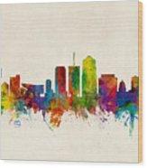 Tucson Arizona Skyline Wood Print