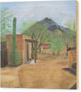 Tucson Ranch Wood Print