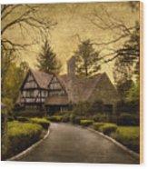 Tudor Estate Wood Print