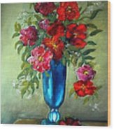 Tueday Afternoon He Brought Flowers Wood Print