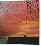 Tuesdays Sky Wood Print