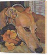 Greyhound Wood Print
