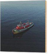 Tug Boat Wood Print