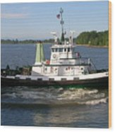 Tugboat America Wood Print