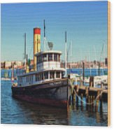 Tugboat Baltimore At The Museum Of Industry Wood Print