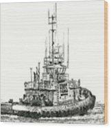 Tugboat Daniel Foss Wood Print