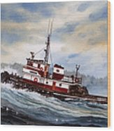 Tugboat Earnest Wood Print