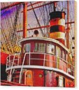 Tugboat Helen Mcallister Wood Print by Chris Lord