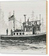 Tugboat Henrietta Foss Wood Print