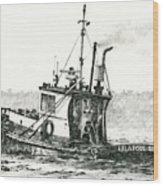 Tugboat Lela Foss Wood Print