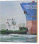Tugboat Leo Foss Wood Print