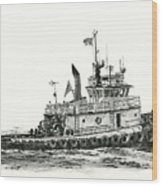 Tugboat Shelley Foss Wood Print