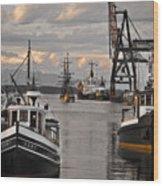 Tugs And Lady Washington Wood Print by Craig Perry-Ollila