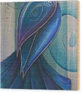 Tui Bird 3 Wood Print