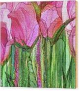 Tulip Bloomies 3 - Pink Wood Print