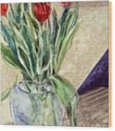 Tulip Bouquet - 11 Wood Print