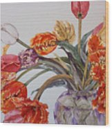 Tulip Bouquet - 12 Wood Print