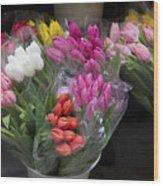 Tulip Bouquets Wood Print