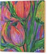 Tulip Edge Wood Print