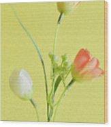 Tulip Family Wood Print