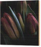 Tulip Grunge Wood Print