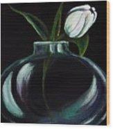 Tulip In A Vase Wood Print