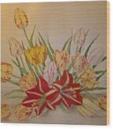Tulip Wood Print