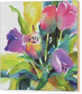 Tulip Pot Wood Print