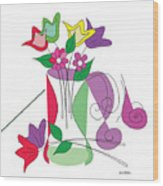 Tulip - Scribble Collection Wood Print