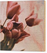 Tulip Whimsy Wood Print
