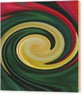 Tulip Swirl Wood Print