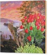 Tulip Town 19 Wood Print
