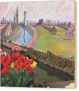 Tulip Town 21 Wood Print