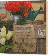 Tulip Town Wood Print